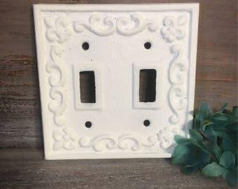 Double Light Switch Cover Pleasing Double Switch Plate  Etsy Decorating Inspiration