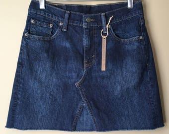 Upcycled Denim - Jean Skirt - Size 6