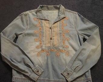 Vintage 70s Denim Longsleeve Shirt