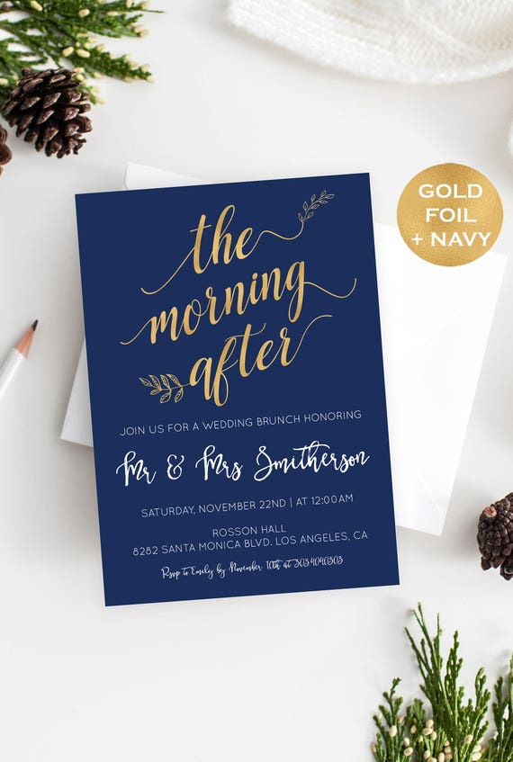 Post Wedding Invitation Instant Download