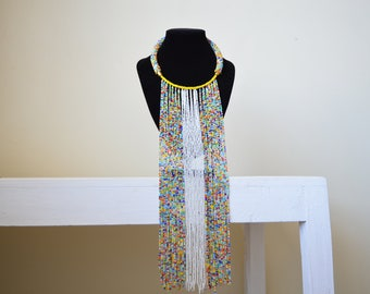 African Maasai Beaded Necklace | Multi color Necklace | African Jewelry | Tribal Necklace | One size fits all | Gift for Her