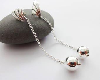 Bridal Earrings, Wedding Earrings, Long Silver Earrings, Bridesmaid Earrings, Bridesmaid Gift, Opera Earrings, Dangle Earrings, Gift for Her