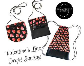 Valentine's Line - Toddler Purse - Baby Purse - Toddler Bag - Toddler Backpack - Handmade Purse - Drawstring Bag
