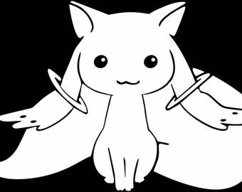 Madoka Magica -- Kyubey Anime Decal Sticker for Car/Truck/Laptop