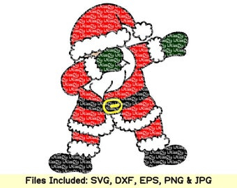 Dabbing santa svg dabbing svg dab christmas santa claus svg hat sack svg files for cricut silhouette kid shirt htv decal design dxf cut file