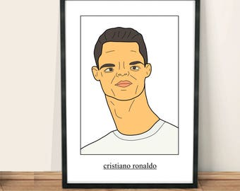 Celebrity Poortraits | Cristiano Ronaldo | A4 | A3 | Framing available