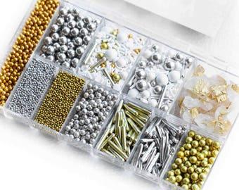 The Bling Sprinkle Bento Box, Sprinkle Box, Sprinkle Kit, Cake Decoration Kit, Cookie Decoration Kit, Edible Sprinkles, Fancy Sprinkles