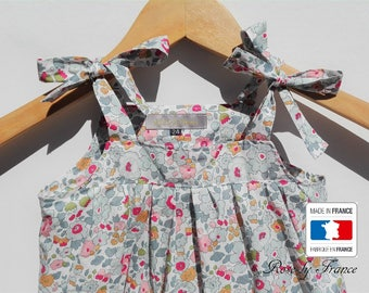 Dress baby in liberty Betsy porcelain (baby dress)