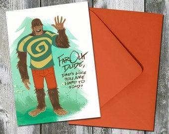 Tiny Bigfeet Bigfoot – Birthday / Father's Day Card for Dad