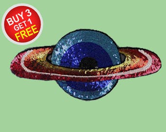 Planet Sequin Patches Large Iron On Patch