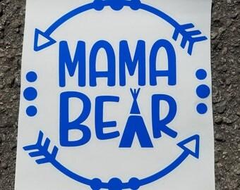 Mama Bear Vinyl Decal for Car Windows Laptops Metal Cups