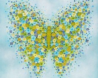 Flutterly Blue Prints