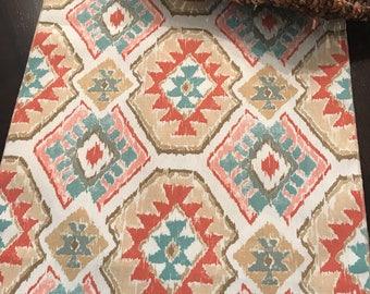 Southwestern Placemat | Aztec Centerpiec e| Wedding Centerpiece | Navajo Placemat | Brown Orange Yellow | Table Square | South West