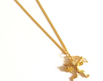 Gold Cupid Necklace