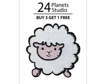Sheep Iron on Patch by 24PlanetsStudio