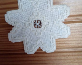 Star in hardanger embroidery