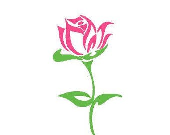 Instant Download - Machine Embroidery Pattern Designs File - Rose - Fits 4x4 Hoop - MULTIPLE FORMATS