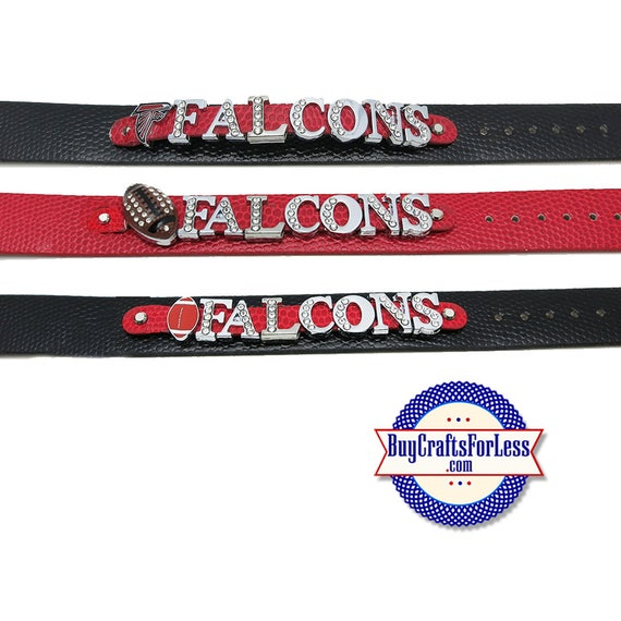 Double WIDE FALCONs  Bracelet, 8mm SLIDER Letters/Charms, CHooSE Color +FREE Shipping & Discounts*