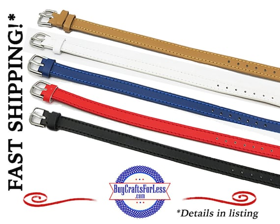 GENUINE Leather BRACELET for 8mm Slider Letters and Charms, choose from 5 Colors +FREE Shipping & Discounts*