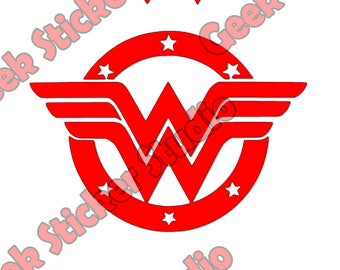 Wonder Woman Logos (new and old) - Digital SVG / Studio3 file
