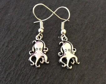 Octopus earrings / octopus jewellery / animal jewellery / animal lover gift
