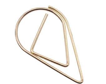 50 PCS Teardrop Paper Clips Gold Raindrop Metal Paper Clip, Paper Clips, Binder Paper Clip
