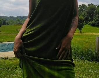 Moss Forest Faery Goddess Gown
