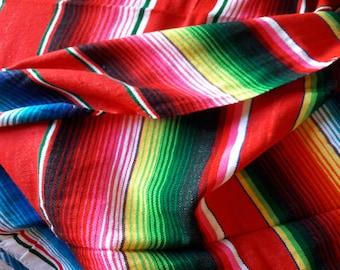 Mexican fabric,woven,upholstery fabric,tablecloth,table runner,ethnic,artisan,throw,blanket, serape fabr,fiesta,5 de mayo,big,sarape fabric