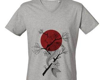 Koi Carp V-Neck T-shirt