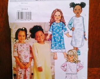Butterick P291  a/k/a 3318   girl's pajamas