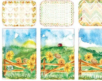 BIG Happy Planner Sticker Kit - Sunflowers Weekly Sticker Kit | Country, Farm, Sunny (BHP)