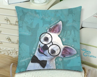 Chihuahua dog Throw Pillow Cover