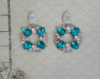handmade zircon earrings