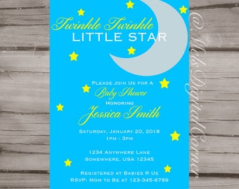 Twinkle Twinkle Baby Shower | Invitation | Digital File | Printable