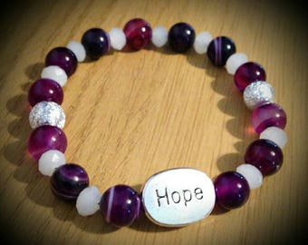 Purple Agate Hope Bracelet