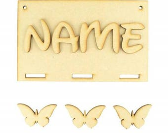 Personalised Ribbon Plaque for Bows & Hair Clips