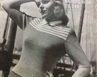 1940s knitted sweaters booklet Patons book no 246