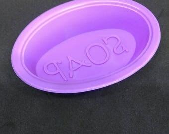 """moule savon en silicone """"SOAP"""" DIY couleur violette"""