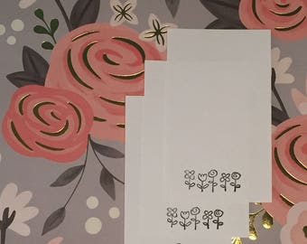 Floral Note Cards Small