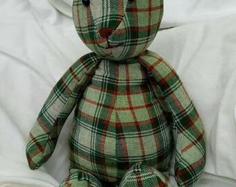 SALE**Teddy Bear Handmade with Kilt Tartan.