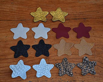 Set of stars (9038554) cow and lamb leather