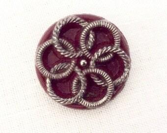 Art Deco Button, Vintage Glass Buttons, Antique Buttons, Vintage Buttons, 23mm, Czech Glass Buttons, Art Deco Buttons, Buttons Vintage