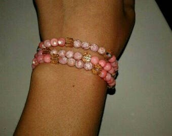 Pink bracelet/necklace
