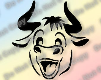 Ferdinand The Bull SVG Silhouette SVG Cut File svg dxf eps pdf png (300dpi) Ready to Cut Cartoon Cut File - Instant Download!!!