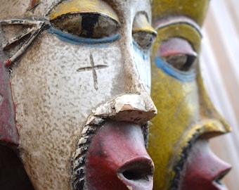 Vintage Guro Mask,Ivory Coast,Guro Mask,African Art,Cote d'Ivoire,West Africa,Tribal Art,African Tribe,Guro,African Mask,Decorative Mask,