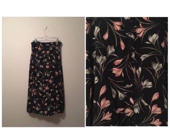 "90's ""Rachel Green Capsule Collection"" Button Down Long Skirt"