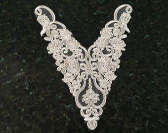 Quality white guipure lace applique