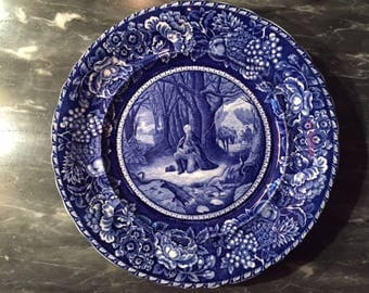 Staffordshire Washington's Prayer at Valley Forge Collector Plate