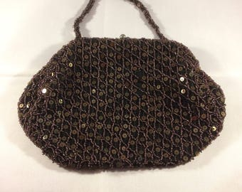 Vintage evening bag, heavily beaded and sequinned
