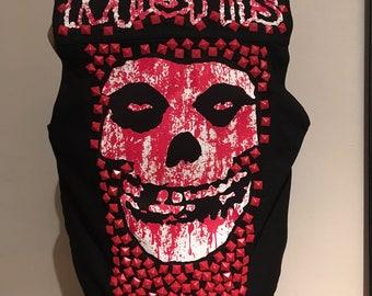 Men's small Misfits custom denim vest